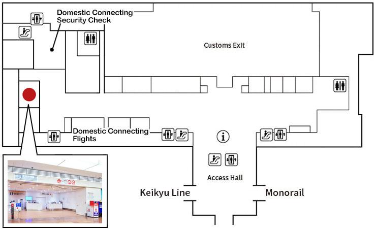 Haneda Airport Terminal3 Arrival Counter