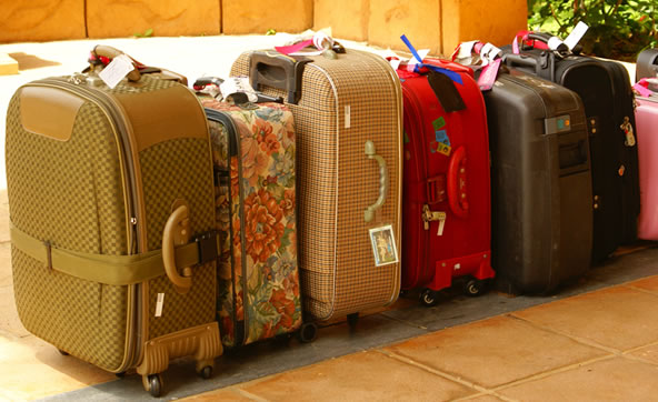 Pick up your baggage at the airport