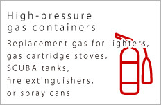 High-pressure gas containers