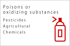 Poisons or oxidizing substances