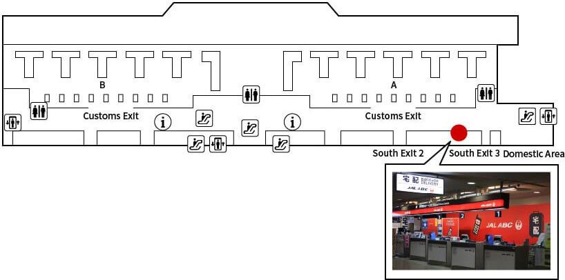 Narita International Airport Terminal2 Arrival Counter