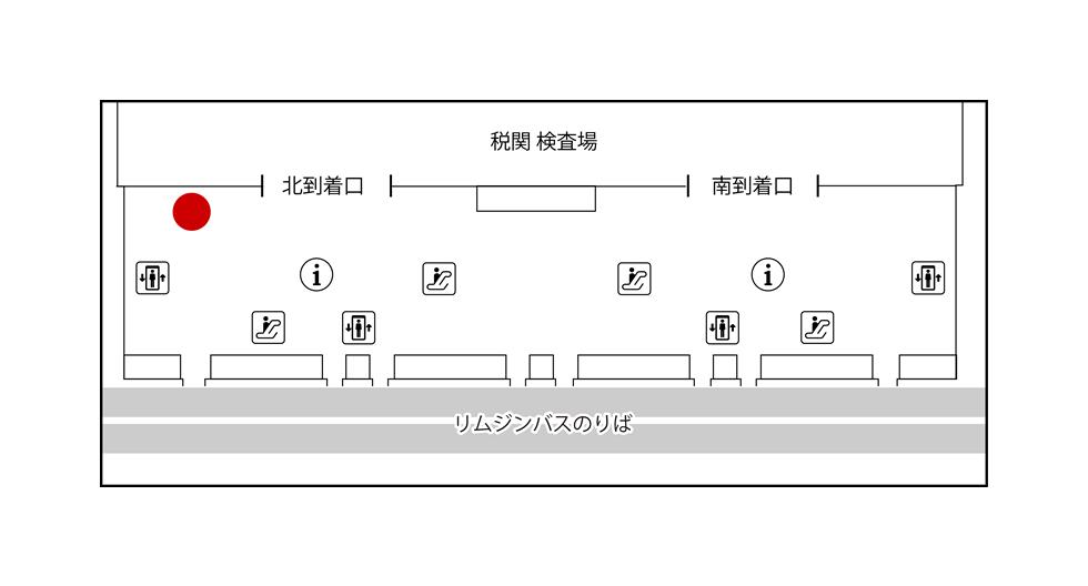 関西国際空港 JALABCカウンターMAP