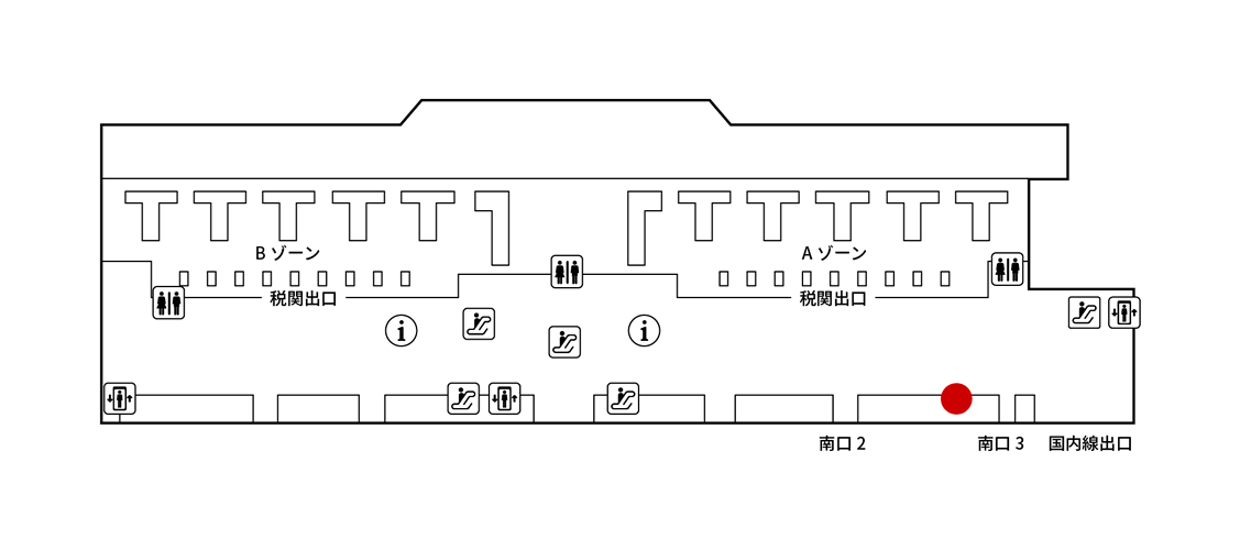 成田国際空港(第二)JALABCカウンターMAP